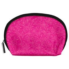 Abstract Stars In Hot Pink Accessory Pouch (large)