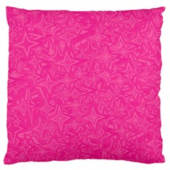 Abstract Stars In Hot Pink Large Flano Cushion Case (One Side)
