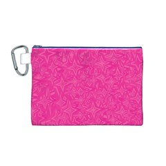 Abstract Stars In Hot Pink Canvas Cosmetic Bag (Medium)