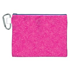 Abstract Stars In Hot Pink Canvas Cosmetic Bag (XXL)