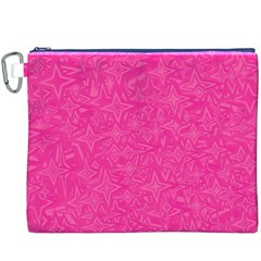 Abstract Stars In Hot Pink Canvas Cosmetic Bag (XXXL)