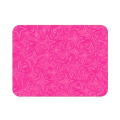 Abstract Stars In Hot Pink Double Sided Flano Blanket (mini)
