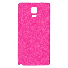 Abstract Stars In Hot Pink Samsung Note 4 Hardshell Back Case