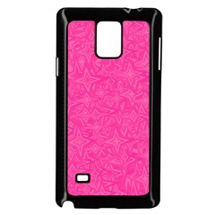 Abstract Stars In Hot Pink Samsung Galaxy Note 4 Case (black)
