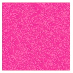 Abstract Stars In Hot Pink Large Satin Scarf (Square)
