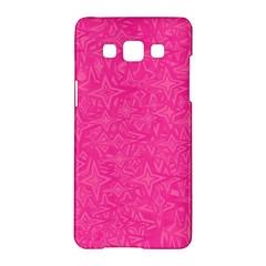 Abstract Stars In Hot Pink Samsung Galaxy A5 Hardshell Case