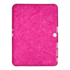 Abstract Stars In Hot Pink Samsung Galaxy Tab 4 (10.1 ) Hardshell Case