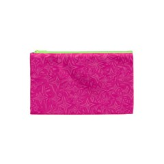 Abstract Stars In Hot Pink Cosmetic Bag (XS)