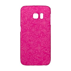 Abstract Stars In Hot Pink Samsung Galaxy S6 Edge Hardshell Case