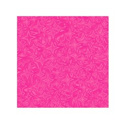 Abstract Stars In Hot Pink Small Satin Scarf (Square)