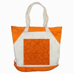 Orange Abstract 45s Accent Tote Bag