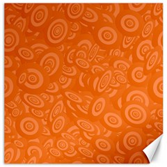 Orange Abstract 45s Canvas 12  X 12  (unframed)