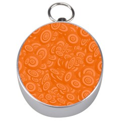 Orange Abstract 45s Silver Compass