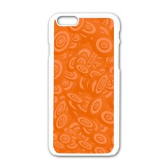 Orange Abstract 45s Apple iPhone 6 White Enamel Case