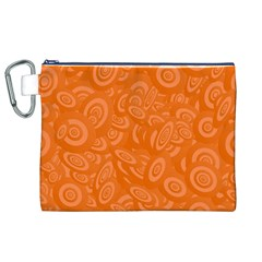 Orange Abstract 45s Canvas Cosmetic Bag (XL)
