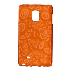 Orange Abstract 45s Samsung Galaxy Note Edge Hardshell Case