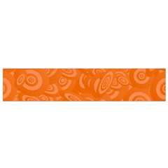 Orange Abstract 45s Flano Scarf (Small)