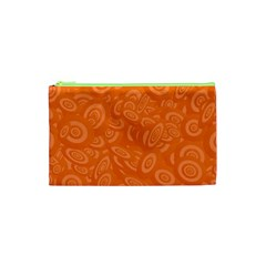 Orange Abstract 45s Cosmetic Bag (xs)
