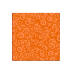 Orange Abstract 45s Satin Bandana Scarf
