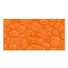 Orange Abstract 45s Satin Shawl