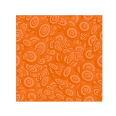 Orange Abstract 45s Small Satin Scarf (Square)