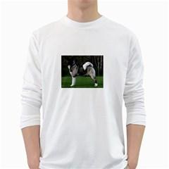 Akita Full Men s Long Sleeve T-shirt (White)
