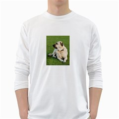 Anatolian Shepherd Laying Men s Long Sleeve T-shirt (White)