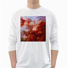 Star Dream Men s Long Sleeve T Shirt (white)