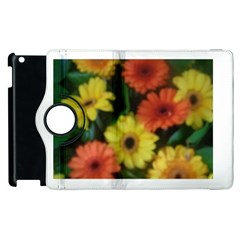 Orange Yellow Daisy Flowers Gerbera Apple iPad 2 Flip 360 Case