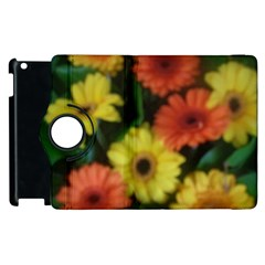 Orange Yellow Daisy Flowers Gerbera Apple iPad 3/4 Flip 360 Case
