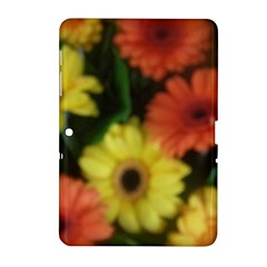 Orange Yellow Daisy Flowers Gerbera Samsung Galaxy Tab 2 (10.1 ) P5100 Hardshell Case
