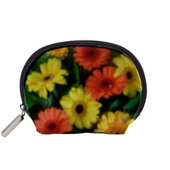 Orange Yellow Daisy Flowers Gerbera Accessory Pouch (Small)