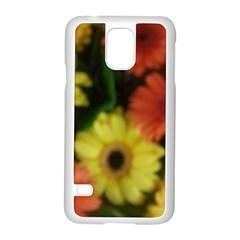 Orange Yellow Daisy Flowers Gerbera Samsung Galaxy S5 Case (White)