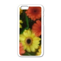 Orange Yellow Daisy Flowers Gerbera Apple iPhone 6 White Enamel Case