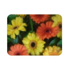 Orange Yellow Daisy Flowers Gerbera Double Sided Flano Blanket (mini)