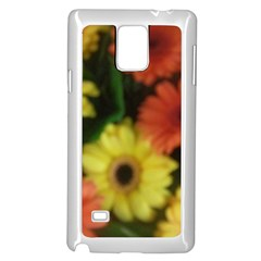 Orange Yellow Daisy Flowers Gerbera Samsung Galaxy Note 4 Case (White)