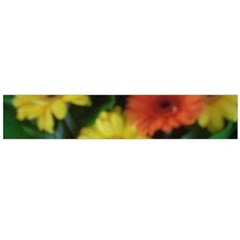 Orange Yellow Daisy Flowers Gerbera Flano Scarf (Large)