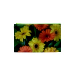 Orange Yellow Daisy Flowers Gerbera Cosmetic Bag (XS)