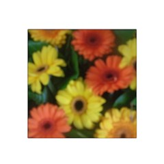 Orange Yellow Daisy Flowers Gerbera Satin Bandana Scarf