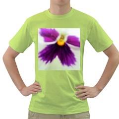 Inside Purple White Violet Flower Men s T-shirt (Green)