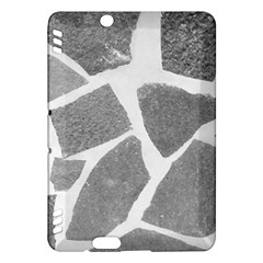 Grey White Tiles Pattern Kindle Fire HDX Hardshell Case