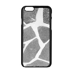 Grey White Tiles Pattern Apple Iphone 6 Black Enamel Case