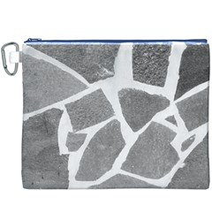 Grey White Tiles Pattern Canvas Cosmetic Bag (XXXL)
