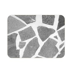 Grey White Tiles Pattern Double Sided Flano Blanket (mini)