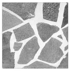 Grey White Tiles Pattern Large Satin Scarf (Square)