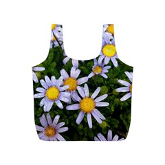 Yellow White Daisy Flowers Reusable Bag (S)