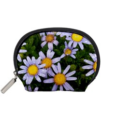 Yellow White Daisy Flowers Accessory Pouch (small)