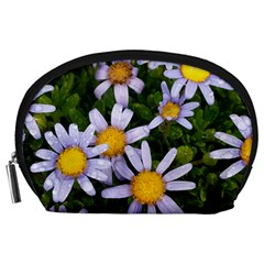 Yellow White Daisy Flowers Accessory Pouch (Large)
