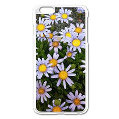 Yellow White Daisy Flowers Apple Iphone 6 Plus Enamel White Case