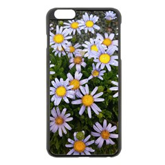 Yellow White Daisy Flowers Apple iPhone 6 Plus Black Enamel Case